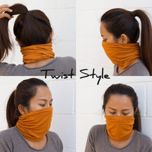 Load image into Gallery viewer, Golden Yellow Extra Wide Invisible Seam Face Cover Headband
