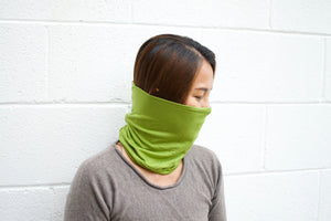 A. Extra wide headband - Lime Green