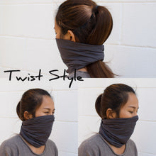 Load image into Gallery viewer, Blue Gray Extra Wide Invisible Seam Face Cover Headband