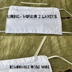 Reusable Nose Wired Printed Face Mask