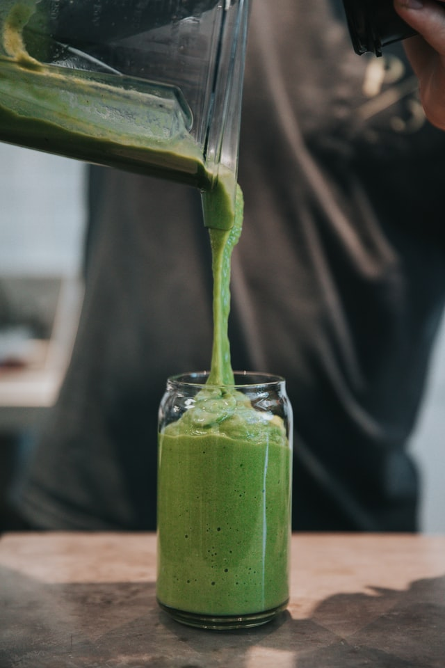 healthy happy hour coffee shop green smoothie