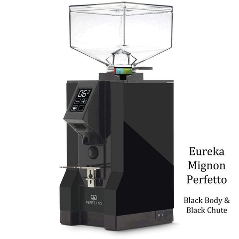 Eureka Coffee Grinder Black Body & Black Chute Eureka Mignon Perfetto Home Coffee Grinder
