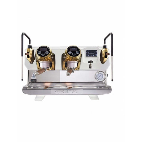 Faema Espresso Machine Faema E71E VIVAIO 3 Buttons 2-Group Commercial Espresso Machine (White)