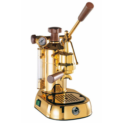 La Pavoni Espresso Machine La Pavoni Professional Copper Brass 16 Cup Manual/Lever Espresso Machine PB-16