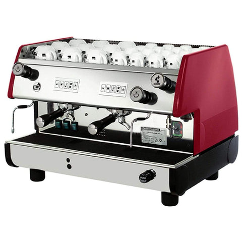 La Pavoni Espresso Machine Red La Pavoni BAR-T 2V Volumetric 2-Group Commercial Espresso Machine