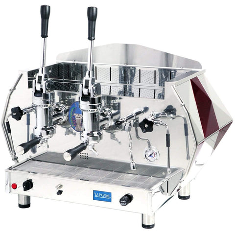 Image of La Pavoni Espresso Machine Red La Pavoni DIAMENTE 2-Group Commercial Lever Espresso Machine