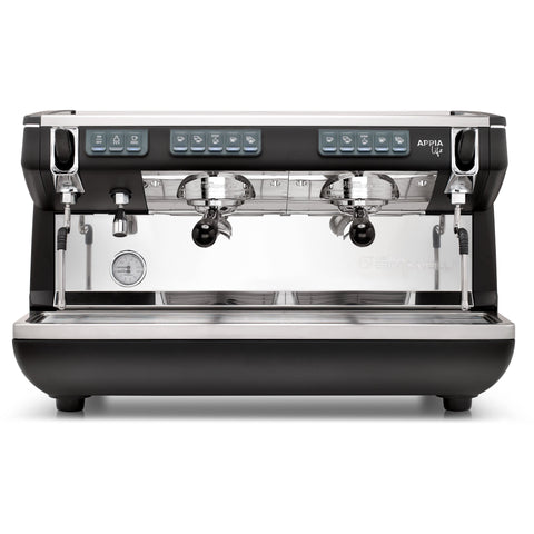 Nuova Simonelli Espresso Machine Black Nuova Simonelli Appia Life 2 Group Volumetric Commercial Espresso Machine