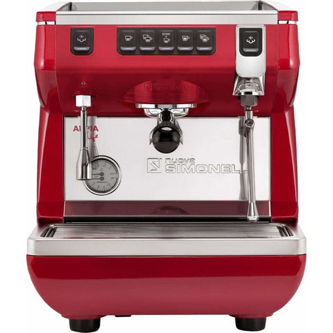 Nuova Simonelli Espresso Machine Red / No Autosteam Nuova Simonelli Appia Life 1 Group Volumetric Commercial Espresso Machine