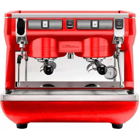 Nuova Simonelli Espresso Machine Red Nuova Simonelli Appia Life Compact 2 Group Semi-Automatic Commercial Espresso Machine