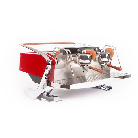 Image of Slayer Espresso Maker Crimson Red Slayer Steam LPx 2-Group Commercial Espresso Machine