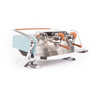Slayer Espresso Maker Seattle Sky Blue Slayer Steam LPx 2-Group Commercial Espresso Machine