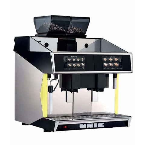 Unic Espresso Machine Unic Tango Duo STP Fully Automatic Espresso Machine with Milk Pump Fridge
