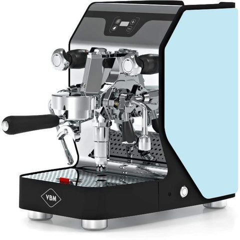 Image of VBM Espresso Machine Light Blue-Left Panel VBM Domobar Junior Digital 1 Group Semi-Automatic Home Espresso Machine