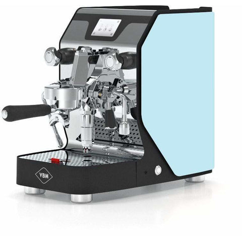Image of VBM Espresso Machine Light Blue-Left Panel VBM Domobar Super Digital 1 Group Semi-Automatic Home Espresso Machine