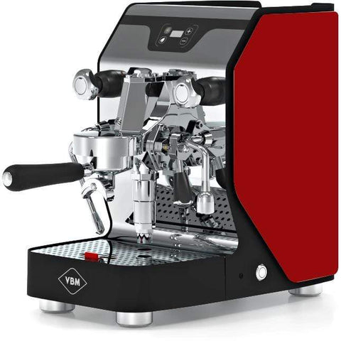 Image of VBM Espresso Machine Red-Left Panel VBM Domobar Junior Digital 1 Group Semi-Automatic Home Espresso Machine
