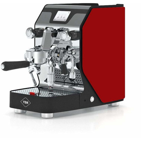 Image of VBM Espresso Machine Red-Left Panel VBM Domobar Super Digital 1 Group Semi-Automatic Home Espresso Machine