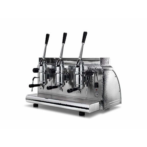 Image of Victoria Arduino Espresso Machine Chrome Victoria Arduino Athena Classic Leva 3 Group Lever Commercial Espresso Machine