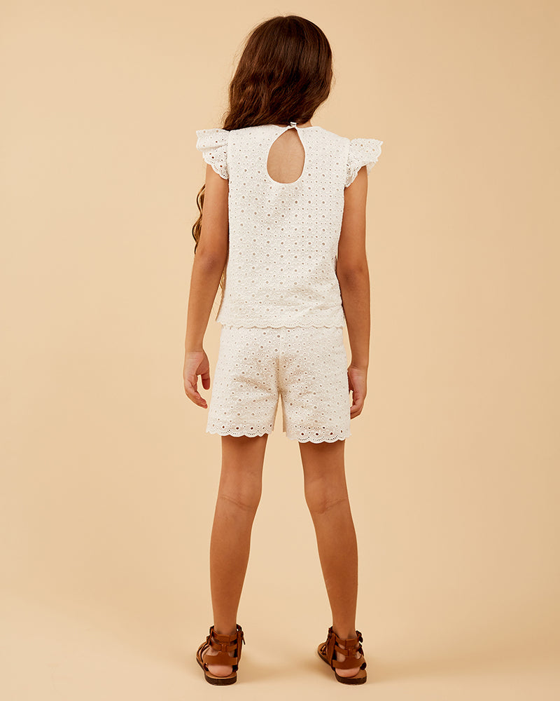 Girls Eden Short - Broderie Anglaise