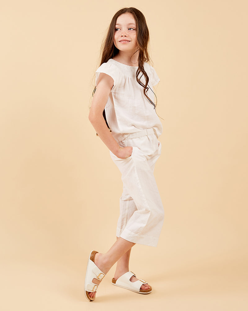 Girls Lylah Pant - White