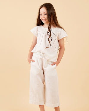 Load image into Gallery viewer, Girls Lylah Pant - White