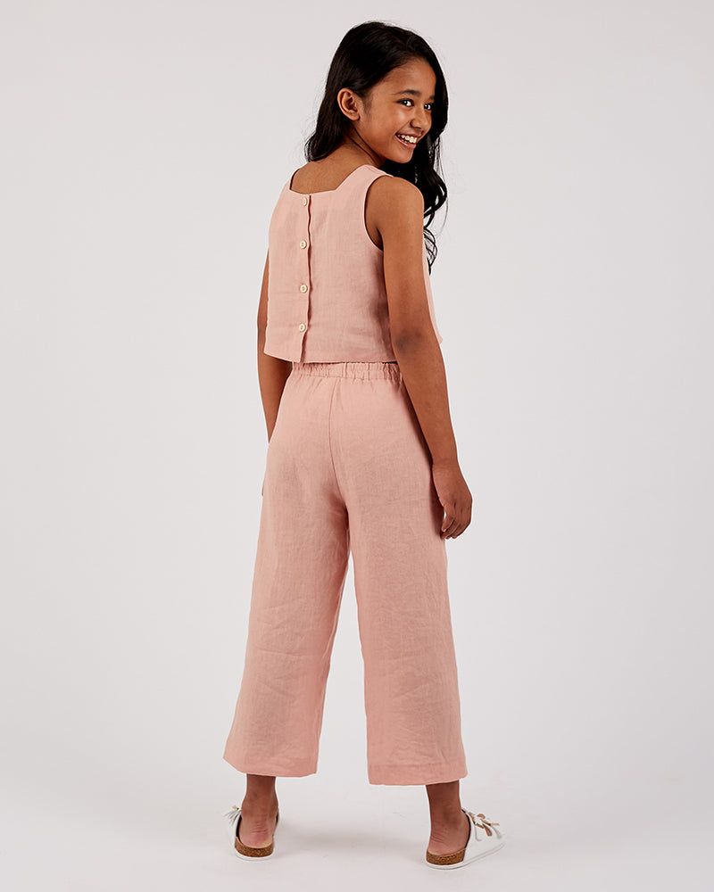 Girls Lylah Pant - Linen