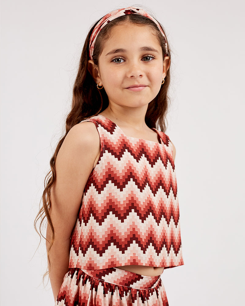 Load image into Gallery viewer, Girls Ella Top - Aztec