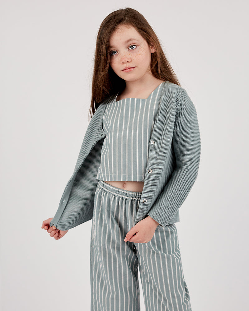 Girls Amber Cardigan - Sage