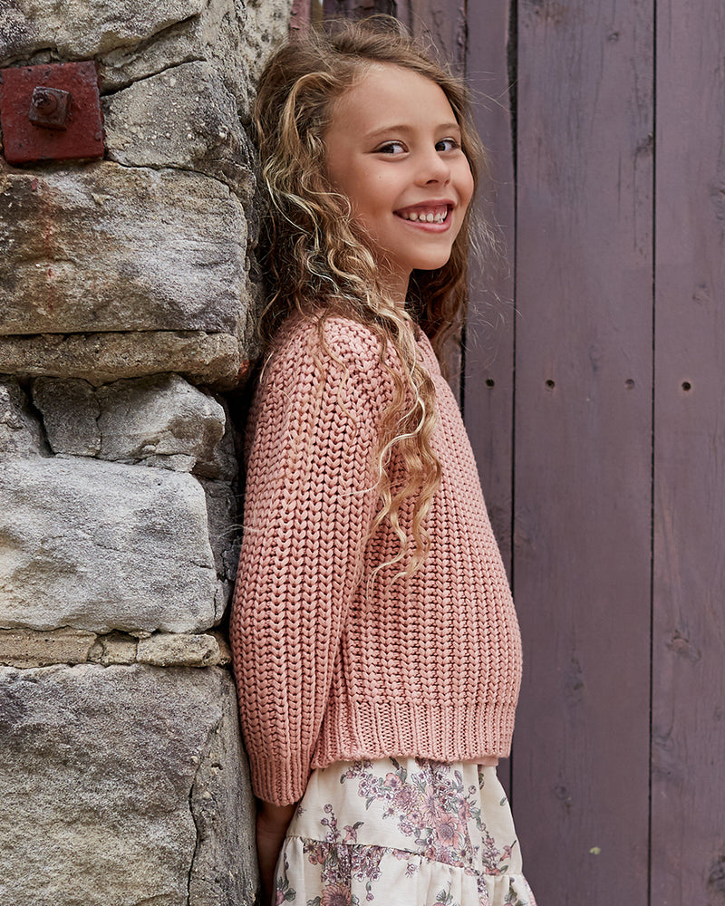 Load image into Gallery viewer, Girls Cotton Emma Jumper - Prima Pink
