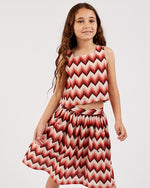 Girls Aztec Amaya Skirt - Rose Petal