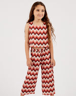 Girls Aztec Lylah Pant - Rose Petal
