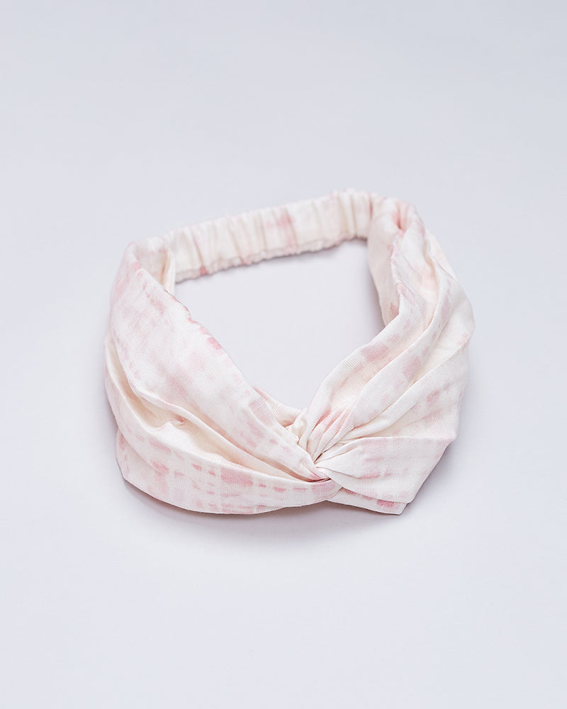 Girls Tie Dye Headband - Prima Pink