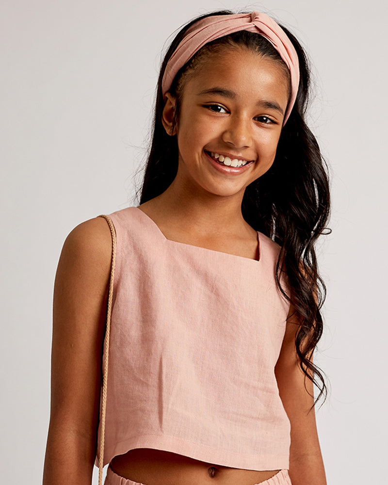 Girls Ella Top - Rose Petal