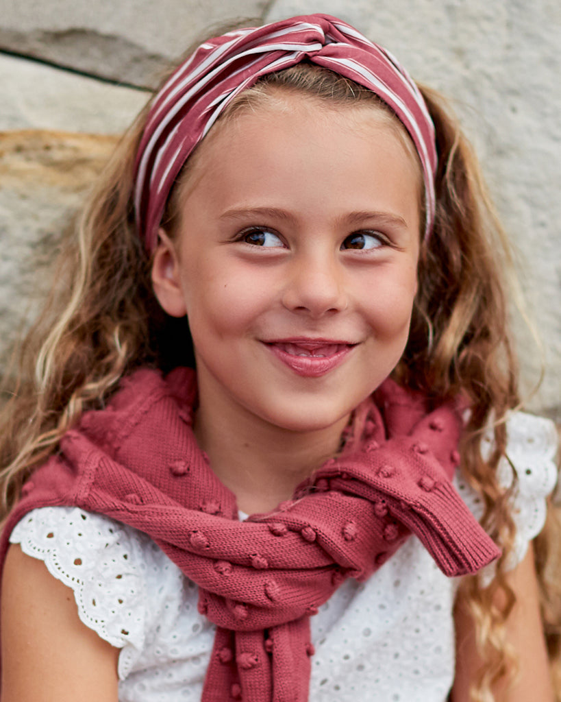 Girls Striped Headband - Desert