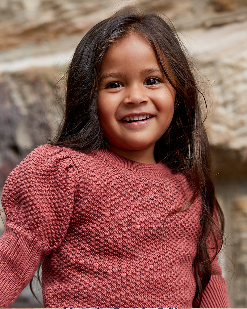 Girls Cotton Hazel Jumper - Desert Red