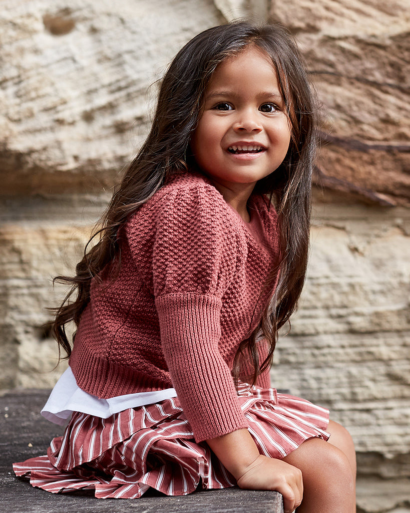 Girls Keira Skirt - Desert Stripe