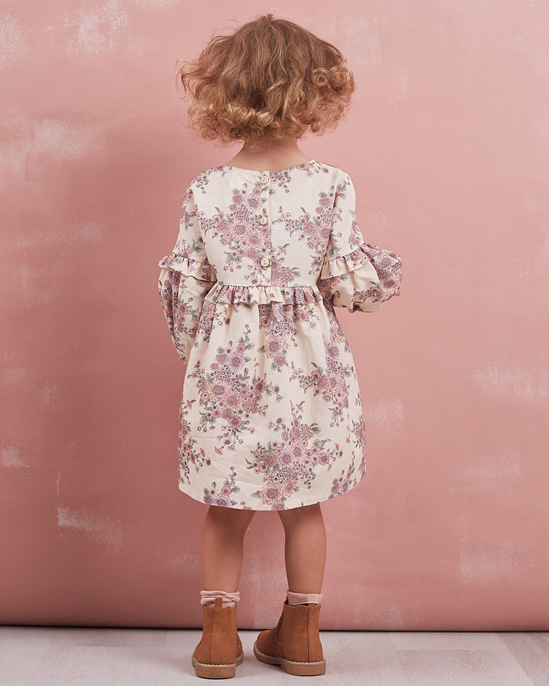 Girls Lola Dress - Open Floral