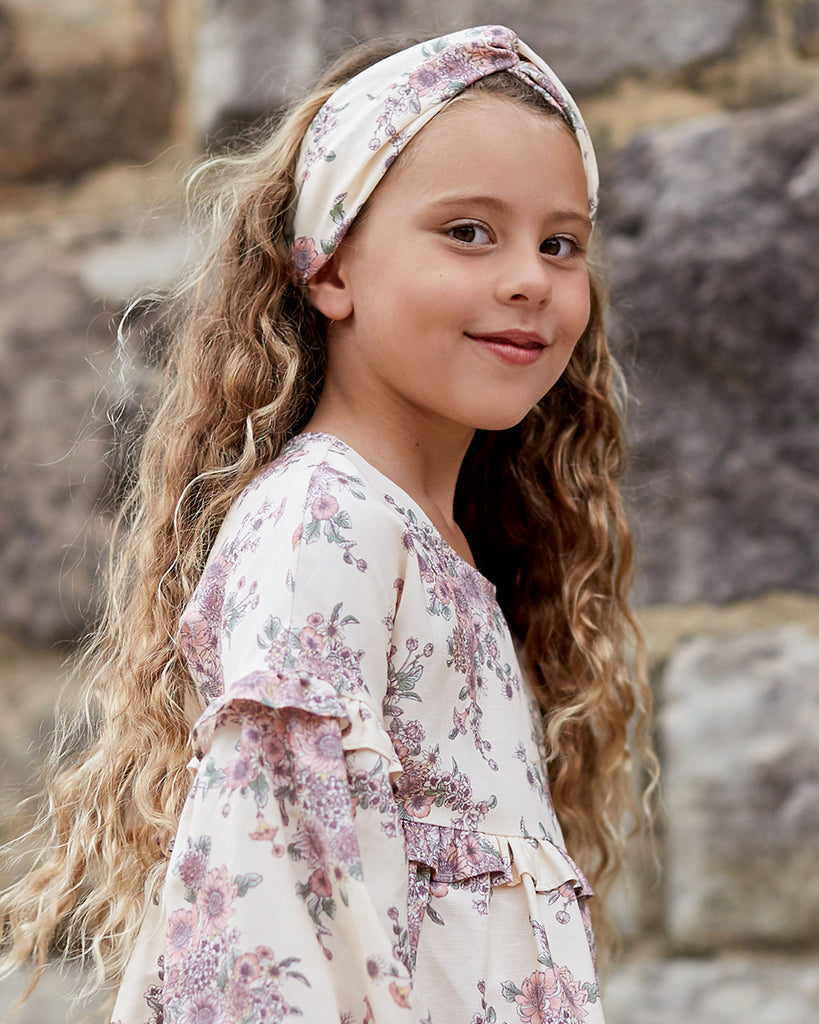 Girls Open Floral Headband