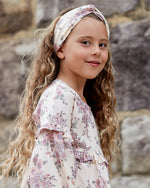 Girls Open Floral Headband - Sorbet