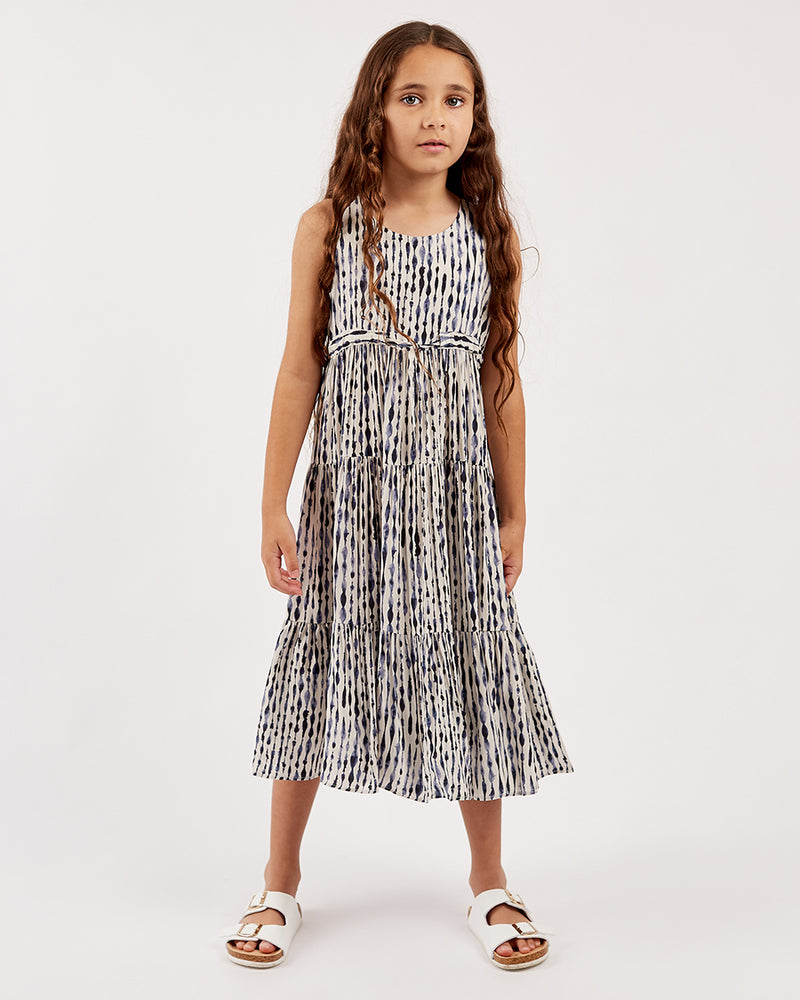 Girls Melissa Dress - Tie Dye