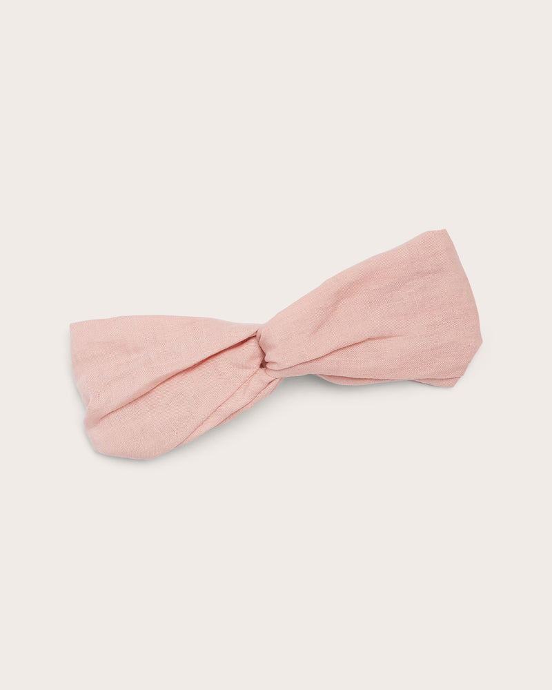 Girls Linen Headband - Rose Petal
