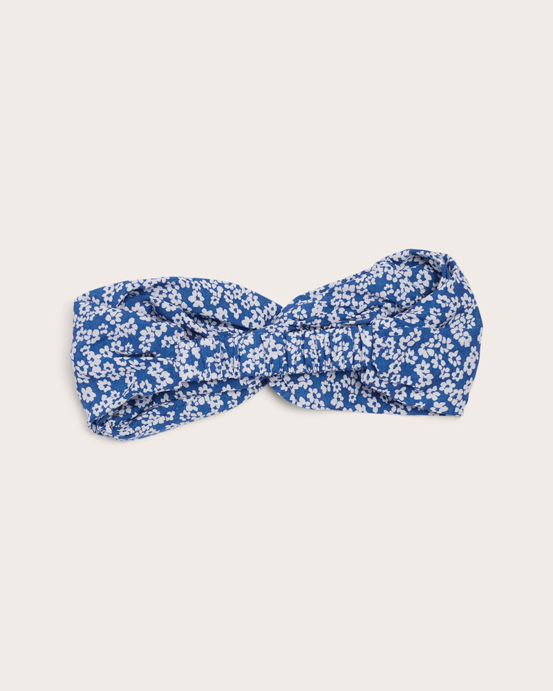 Girls Daisy Headband - Blue Denim