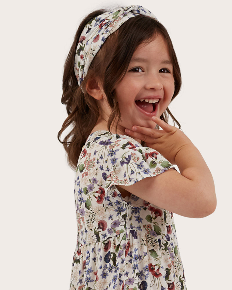 Girls Australian Wildflower Headband - Off-White