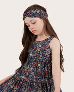 Girls Australian Wildflower Headband - Navy