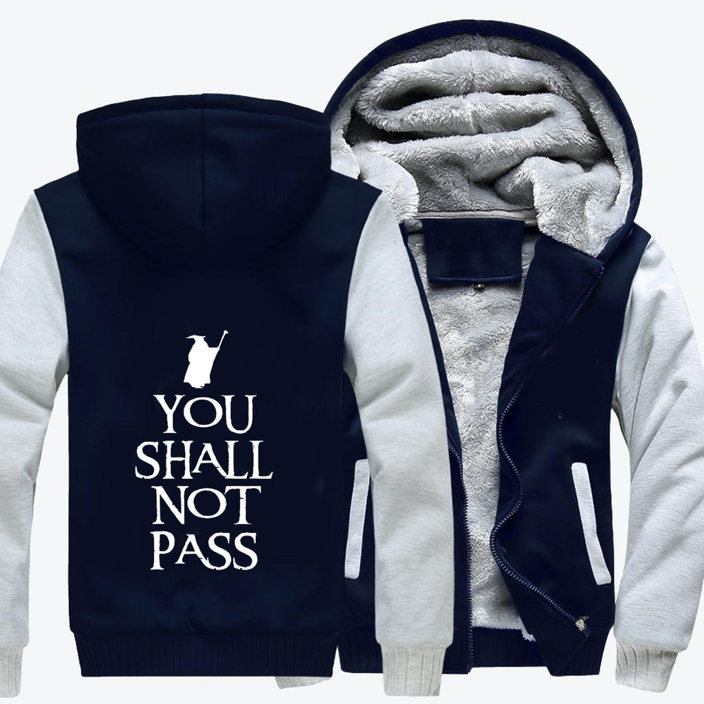 You Shall Not Pass White Fleece Jacket