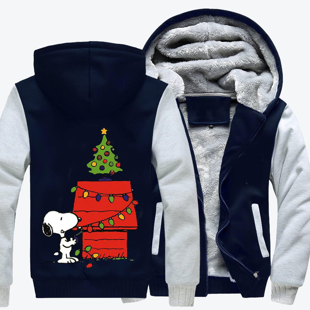 Christmas Snoopy Lights Fleece Jacket
