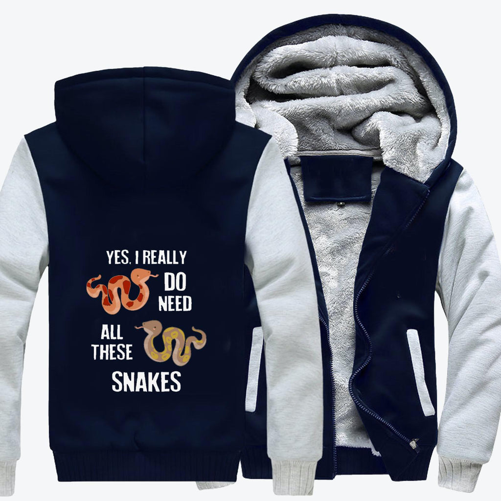 Need All These Snakes Fleece Jacket