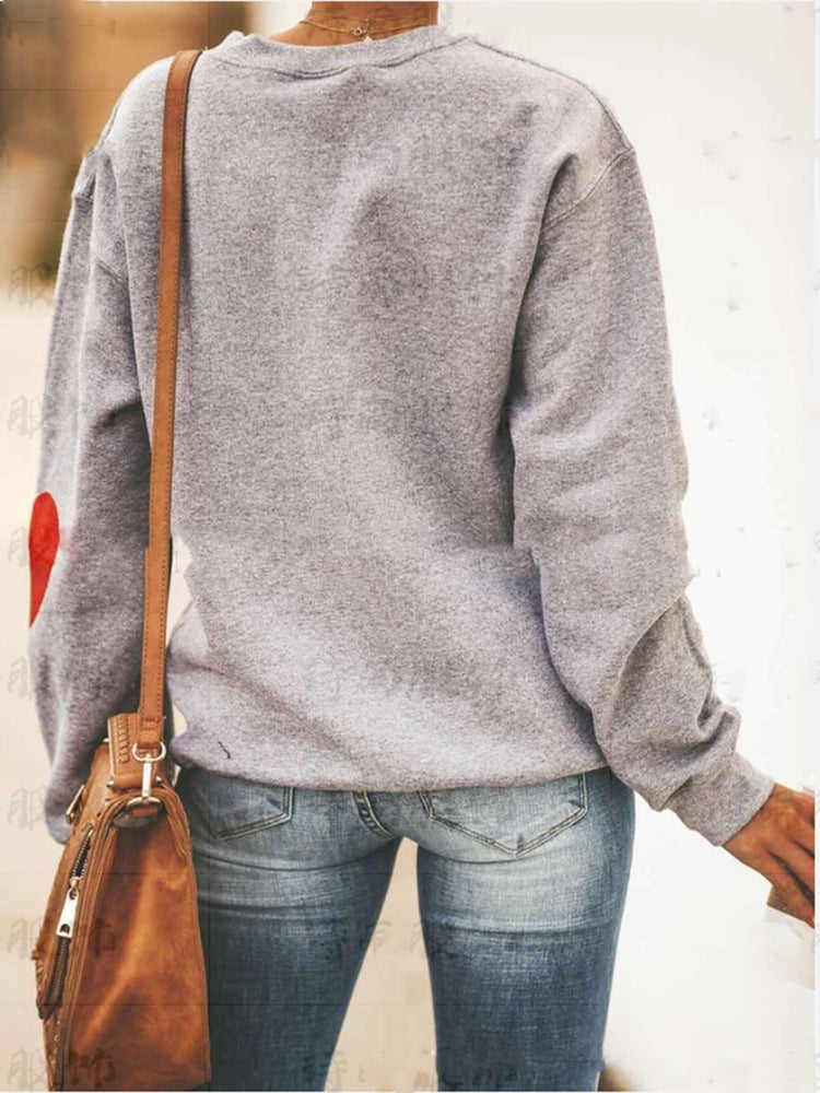 Grau Normal Langarm Tier Sweatshirt