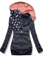 Polka Dots Lässig Normal Kapuze Sweatshirt