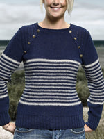 Marineblau Normal Langarm Pullover