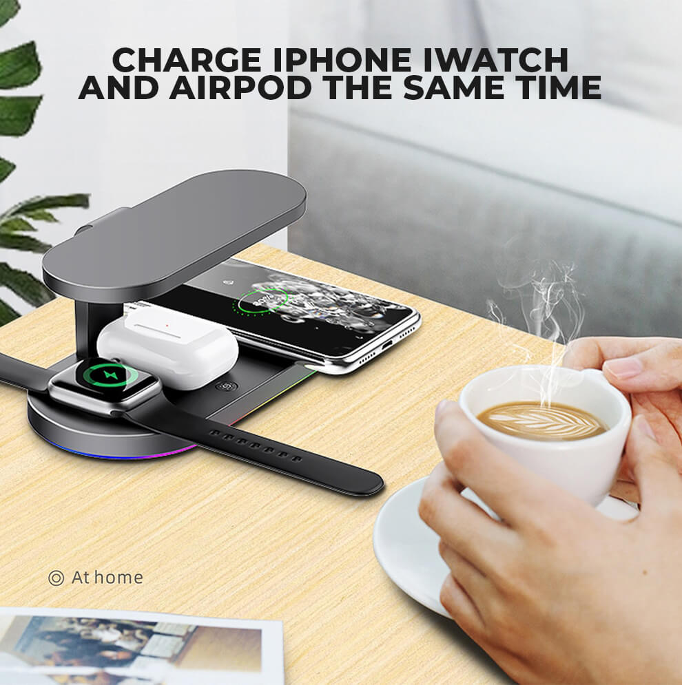 Charge Iphone Iwatch Airpod Charging Station